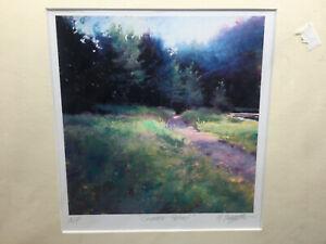 Artist Proof AP Summer Retreat Maria Baggetta March 1 2004 COA Road Trees Pastel