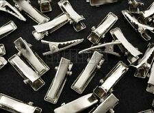 50pcs 20mm Nickel Flat Top Alligator Hair Clips with Teeth Tiny Baby Clip C63