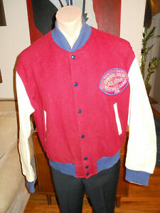 VTG Golden Bear Varsity Jacket Wool Leather USA Made Sz L 1974 All Star Football