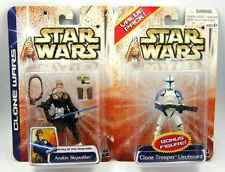 Star Wars Clone Wars 2003 Anakin Skywalker / Clone Trooper Lieutenant 2 Pack