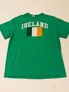 🇮🇪 IRELAND Flag St.Patrick's Day Green Vintage Men's Large T-Shirt EUC🇮🇪