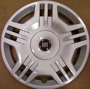 """4 Copricerchi Coppe Ruota FIAT PANDA 2006 in poi 14"""" logo ROSSO 1213LR"""
