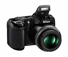 Nikon Coolpix L340 20.2 MP Digital Camera Black with 28x Optical Zoom & 3'' LCD