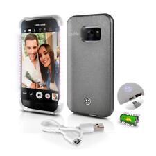 Lite-Me Selfie Lighted Smart Case, Built-in Power Bank & LED Lights (SL301S7GR)