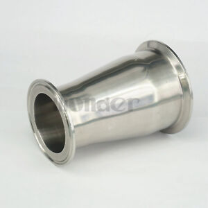 """76mm to 57mm Pipe OD 3"""" to 2.5"""" Tri Clamp SUS304 Sanitary Reducer Homewbrew"""