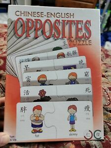 Chinese - English Opposites Puzzle Game, Educational