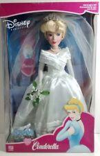 Disney Doll Princess Cinderella Bride Porcelain Brass Key Very Rare NIB Vintage