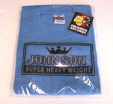 John Son Premium Quality Baby Blue T-Shirt 5XL 100% Cotton Piranha Records