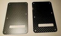 Carbon Fiber Back Plate Cover for Fender Stratocaster Matte Gloss Strat Tremolo