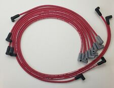 CHEVY 327 350 SMALL BLOCK 8.5MM RED HEI SPARK PLUG WIRES under exhaust USA MADE