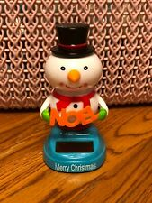 Solar Powered Dancing Toy New - CHRISTMAS Snowman With NOEL Sign