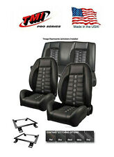 TMI Pro Series Sport XR Lowback Seats, Brackets & Rear Cover & Foam  67 Camaro
