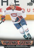 2013-14 Upper Deck Hockey #453 Michael Bournival YG RC Montreal Canadiens