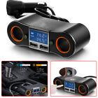 12v-24v Dual 2 Usb Car Cigarette Lighter Socket Splitter Charger Power Adapter