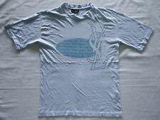 Vintage YSL Yves Saint Laurent Pour Homme Big Logo Italy T Shirt Top Designer