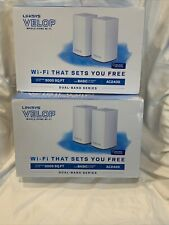 2x Linksys AC2400 867 + 300 Mbps Velop Intelligent WiFi System - White, 2 Pack