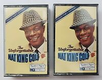 VINTAGE Nat King Cole - The Unforgettable Cassette Tapes 1&3 Collector's Edition