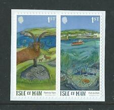ISLE OF MAN 2017 GREEN MAN SELF ADHESIVE BOOKLET PAIR UNMOUNTED MINT, MNH