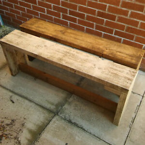 BENCH SOLID WOOD RUSTIC