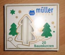 20 Baumkerzen 100x12 mm Weiß Deutsches Qualitätsfabrikat von Müller OVP Licht 01