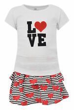 Girls Love Embroidery Valentine's Day Outfit Outfit