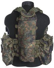 Einsatzweste Tactical 12 Taschen flecktarn