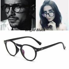 Vintage Clear Round Lens Eyeglasses Frame Retro Men Women Unisex Nerd Glasses