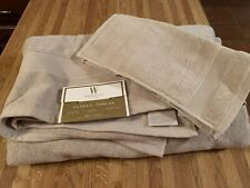 Wamsutta Classic Turkish beige bath sheets/facecloths - set of 2 sheets/2 cloths