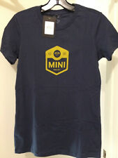 New Official MINI Cooper Women's Discontinued Rallye Tee T-Shirt Blue Medium USA