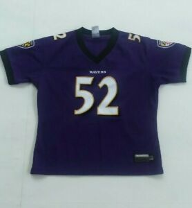 Ray Lewis Reebok  Youth Football Jersey size M Excellent Condition all stitch