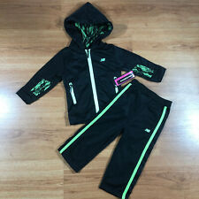 New Balance Baby Girls 18 Months Hoodie & Pants Set Black Track Suit $38 Nwt
