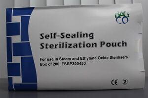 Self Seal Sterilisation Pouch; Dental, Medi, Tattoo,BodyArt, Autoclave;300x450mm