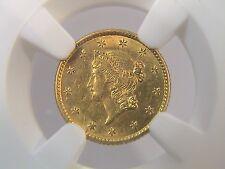 1853 $1 gold Liberty Head NGC UNC DETAILS