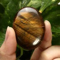 Palm Tumbled Stones Tiger-eye Quartz Crystal Healing Smooth Soap Shape Gemstone