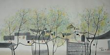 Excellent Chinese Scroll Painting By Wu Guanzhong  JP-004 吴冠中