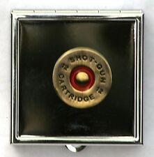 Shotgun Cartridge Head Themed Box wit Mirror Ladies Shooting Gift Free Engraving