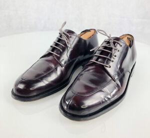 COLE HAAN Carter Grand Burgundy Leather Derby Split Toe Oxfords 8.5D CO3226