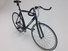 FIXED GEAR BIKE SINGLE SPEED FREE WHEEL-FIXIE ROAD BIKE -9KG MUSCLE BLACK