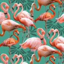 Fabric 100% Cotton Patchwork Promotions Digitally Printed Flamingos