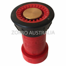 """Fire Fighting Hose Nozzle 1 1/2"""" ID / 38mm with Barb and Stainless Steel Clamp"""