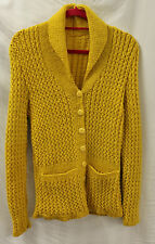 1940s Womans Yellow Hand Knitted Cardigan 40's World War Two Land Army Girl WWII