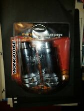 New Mongoose Oversized Freestyle Pegs Chrome Fits 3/8 Inch Axles