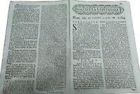 1784 GAZZETTA UNIVERSALE: INDIA; TRANSILVANIA; SAN NICOLA LA STRADA CASERTANO