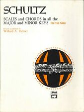 Schultz Scales & Chords Major & Minor Keys Piano Alfred  Masterwork 1980 Palmer