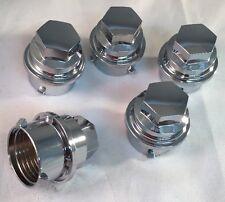 Set of 5 NEW CHROME Lug Nut Lugnut Cover cap COVERS 2000-2004 C5 CORVETTE