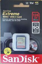 SanDisk 128GB Extreme Class10 U3 SD 90MB/s SDXC Card