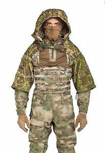 Disguise Sniper Coat / Viper Hood Russian Spetsnaz Ripstop Pencott Greenzone