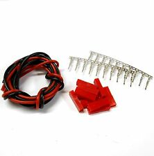 CL9F10 Compatible JST Female Tin Connectors x 10 & 1m 18AWG Black Red Battery 6v
