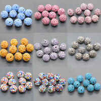 Wholesale Shamballa Micro Pave Disco Crystal Spacer Bead Bracelet Jewelry Making