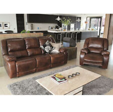 Leather Living Room Contemporary Double Sofas